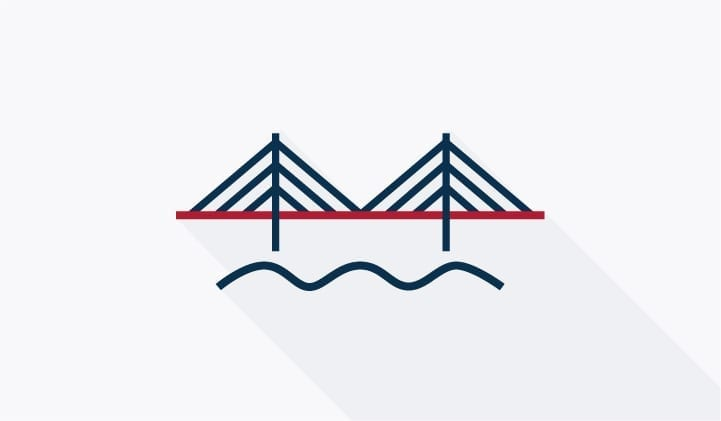 Oeresund bridge illustration